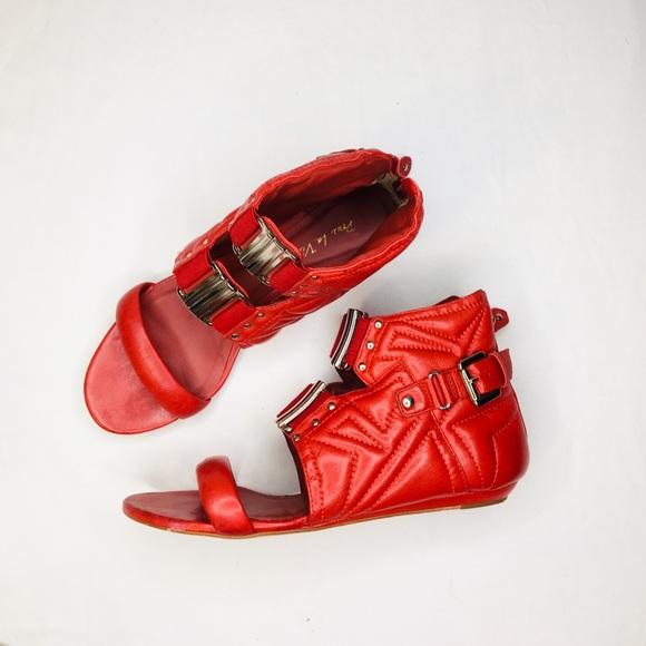 Pour La Victoire Shoes - $60⬇️ Pour La Victoire Red Quilted Sandals